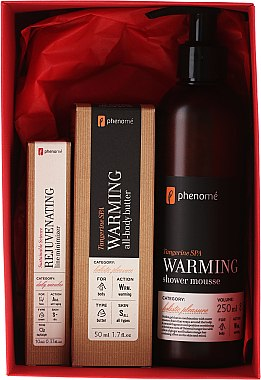 Körperpflegeset - Phenome Tangerine Spa (Anti-Aging Gesichtscreme 10ml + Körperbutter Mandarine 50ml + Duschcreme Mandarine 250ml) — Bild N1