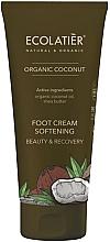 Düfte, Parfümerie und Kosmetik Erweichende Fußcreme mit Kokosnuss - Ecolatier Organic Coconut Foot Cream
