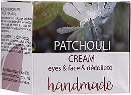 Düfte, Parfümerie und Kosmetik Augen-, Gesichts- und Dekolletécreme mit Patschuli - Hristina Cosmetics Handmade Patchouli Eyes & Face & Decollete Cream