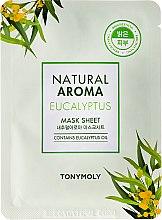 Düfte, Parfümerie und Kosmetik Aufhellende Tuchmaske für das Gesicht mit Eukalyptus - Tony Moly Natural Aroma Eucalyptus Mask Sheet