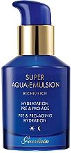 Düfte, Parfümerie und Kosmetik Reichhaltige feuchtigkeitsspendende Anti-Aging Gesichts- und Halsemulsion - Guerlain Super Aqua Rich Emulsion