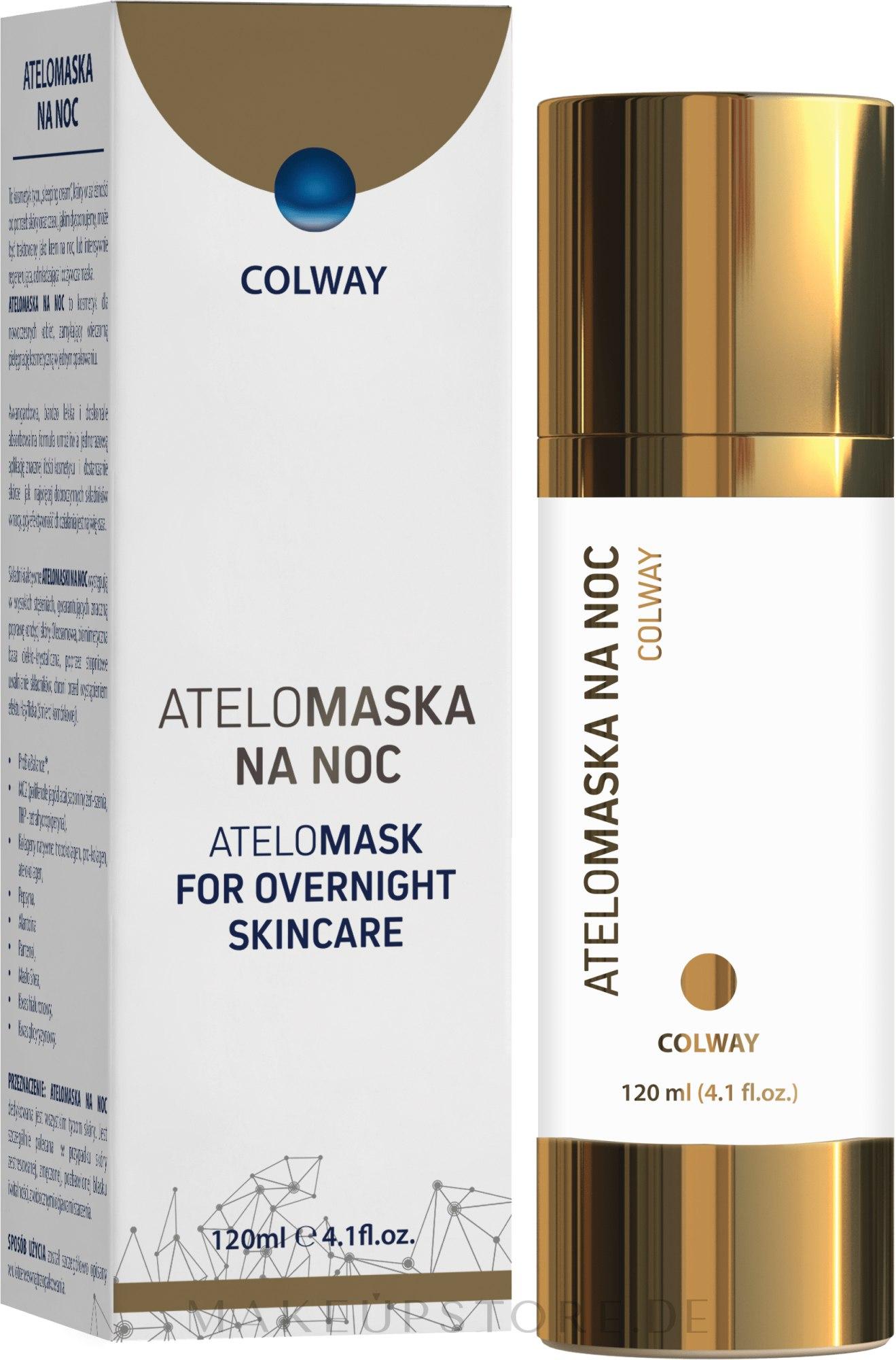 Gesichtsmaske für die Nacht mit Kollagen - Colway AteloMask for Overnight Skincare — Bild 120 ml