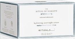 Düfte, Parfümerie und Kosmetik Nachtcreme mit Hyaluronsäure und indischer Rose - Rituals The Ritual Of Namaste Hydrating Overnight Cream