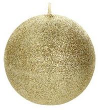 Düfte, Parfümerie und Kosmetik Dekorative Kerze in Kugelform golden 8 cm - Artman Glamour
