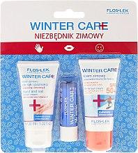 Düfte, Parfümerie und Kosmetik Winter Hautpflegeset - Floslek Winter Care (Sonnenschutzcreme (SPF 50+) 30ml + Handcreme 30ml + Lippenbalsam)