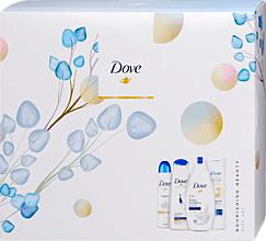 Düfte, Parfümerie und Kosmetik Körperpflegeset - Dove (Duschgel 250ml + Körperlotion 250ml + Deospray 150ml + Shampoo 250ml)