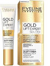 Düfte, Parfümerie und Kosmetik Augen- und Lippenkonturcreme 50+\70+ - Eveline Cosmetics Gold Lift Expert 50+\70+