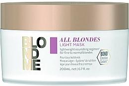Düfte, Parfümerie und Kosmetik Detox-Maske für alle Haartypen - Schwarzkopf Professional Blondme All Blondes Light Mask