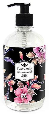 "Flüssige Naturseife ""Black Velvet"" - Hristina Cosmetics Naturally Hand Soap Black Velvet — Bild N1"