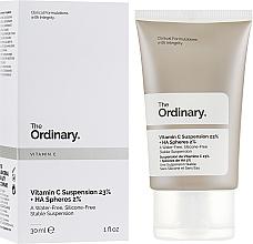 Düfte, Parfümerie und Kosmetik Gesichtsserum mit 23% Vitamin C und 2% Hyaluronsäure - The Ordinary Vitamin C Suspension 23% + HA Spheres 2%