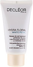 Düfte, Parfümerie und Kosmetik Feuchtigkeitsspendende Crememaske - Decleor Hydra Floral White Petal Skin Perfecting Hydrating Sleeping Mask