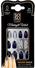 Düfte, Parfümerie und Kosmetik Set Künstliche Nägel 24 St. - Sosu by SJ False Nails Medium Stiletto Midnight Velvet