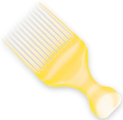 Afro Haarkamm gelb 60403 - Top Choice — Bild N1