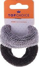 Düfte, Parfümerie und Kosmetik Haargummis schwarz-grau 2 St. - Top Choice
