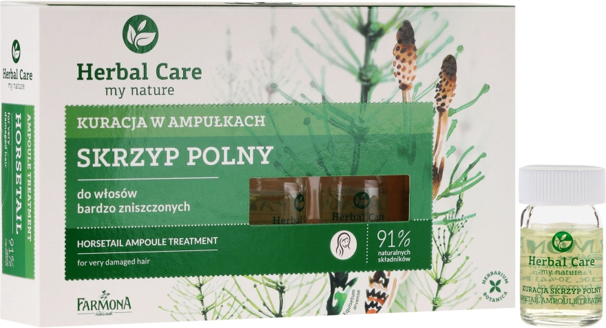 Nährampullen gegen Haarausfall zur Stimulierung des Haarwuchses - Farmona Herbal Care Horsetail Ampoule Treatment