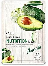 Düfte, Parfümerie und Kosmetik Nährende Tuchmaske für das Gesicht mit Avocado - SNP Fruits Gelato Nutrition Mask