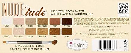 Lidschattenpalette - TheBalm NudeTude Eyeshadow Palette — Bild N3