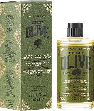 3in1 Pflegendes Öl für Körper, Haare und Gesicht - Korres Pure Greek Olive 3 In 1 Nourishing Oil — Bild N1