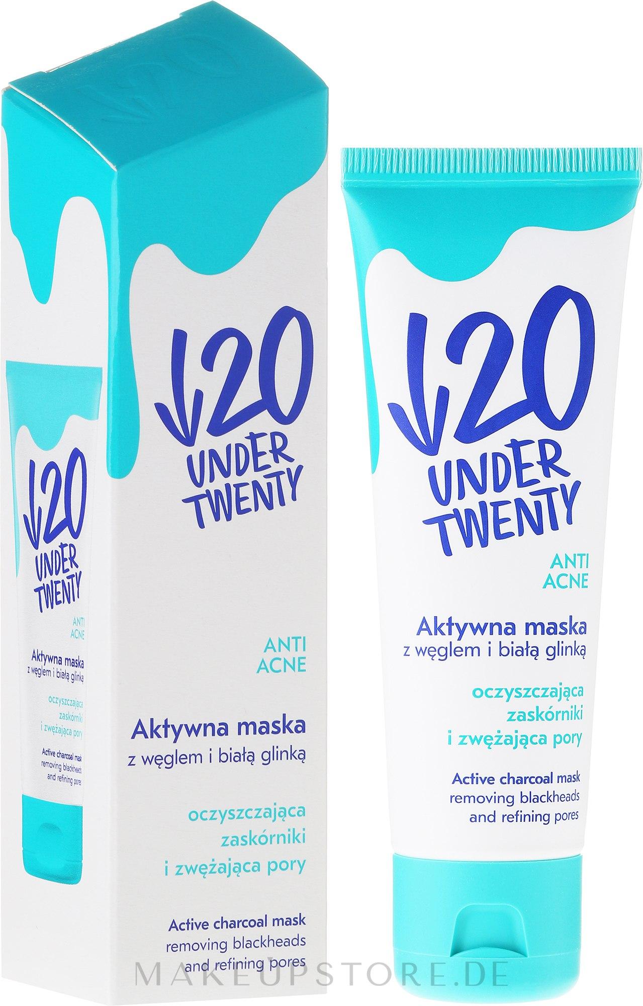 Reinigende und Feuchtigkeitsspendende Gesichtsmaske für Problemhaut und Akne - Under Twenty Anti Acne Mask — Bild 50 ml
