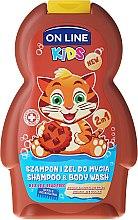 """Düfte, Parfümerie und Kosmetik On Line Kids Chocolate Shampoo & Body Wash - 2in1 Shampoo & Duschgel für Kinder """"Schokoladenkeks"""""""