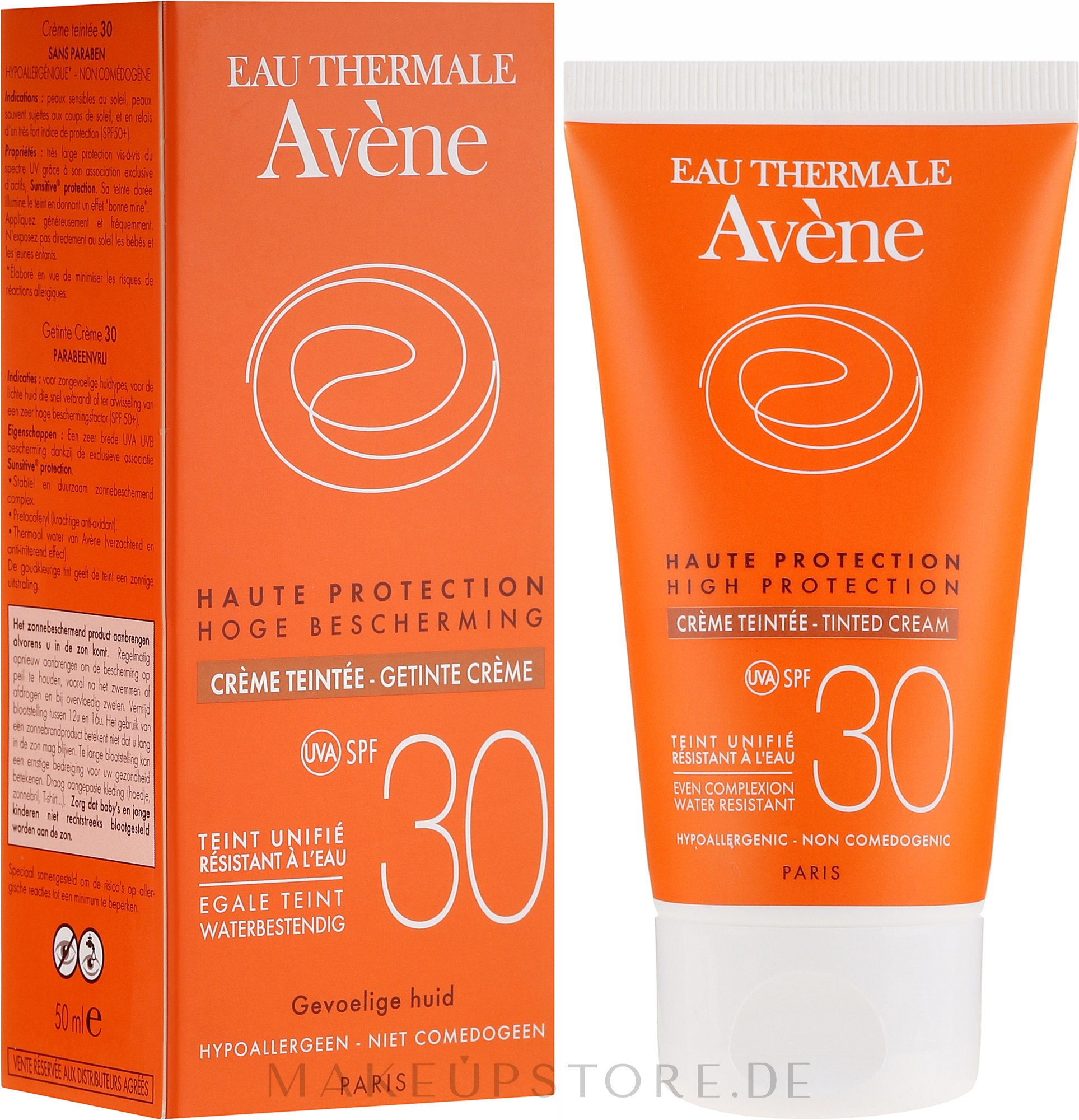 Getönte Sonnenschutzcreme für empfindliche Haut SPF 30 - Avene Haute Protection Tinted Creme SPF30 — Bild 50 ml