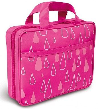 Faltbare Kosmetiktasche mit Henkel 4945 rosa mit Tröpfchen - Donegal Cosmetic Bag — Bild N1