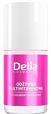 Nagelbalsam mit Vitaminen - Delia Cosmetics Active Multivitamin Nail Conditioner — Bild N1
