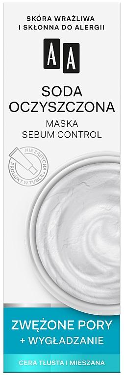 Seboregulierende und glättende Gesichtsmaske zur Porenverengung für fettige und Mischhaut - AA Color Detox Face Mask