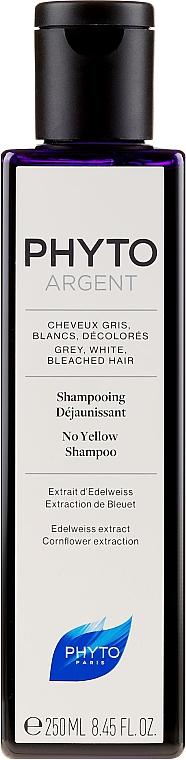 Anti-Gelbstich Shampoo für graues und weißes Haar - Phyto Phytoargent No Yellow Shampoo — Bild N1