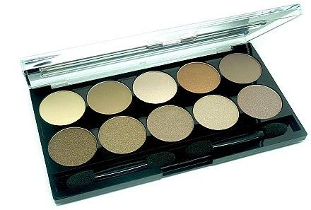 Lidschatten - W7 Perfect 10 Eyeshadow Palette Browns — Bild N2