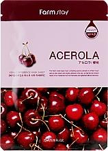 Düfte, Parfümerie und Kosmetik Aufhellende Tuchmaske mit natürlichem Acerola-Extrakt - Farmstay Visible Difference Mask Sheet