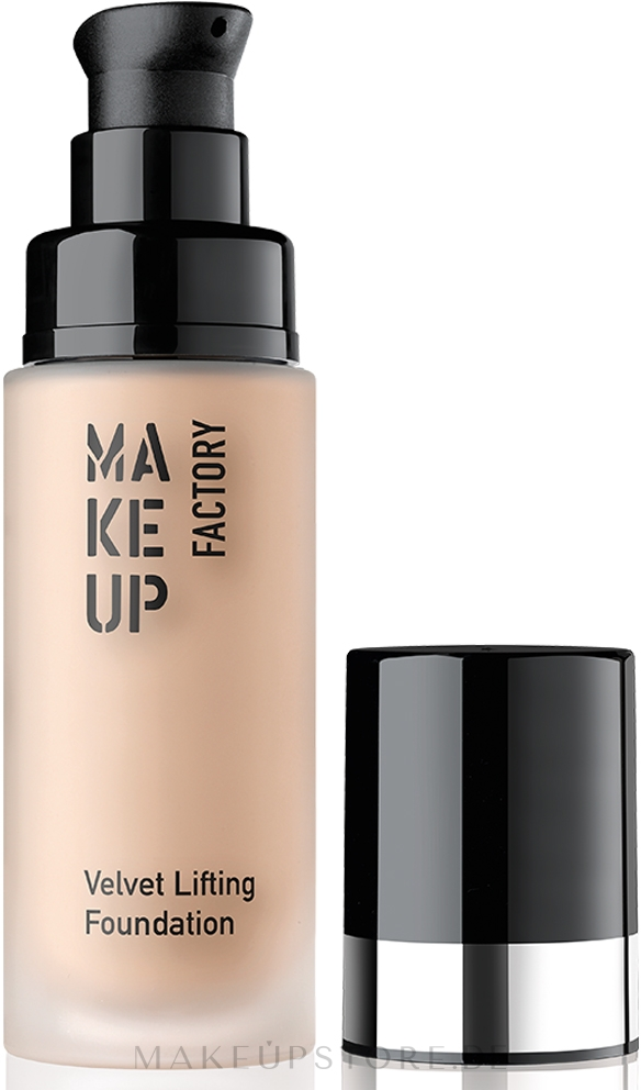 Cremige Anti-Aging Foundation - Make Up Factory Velvet Lifting Foundation — Bild 08A - Nude Touch