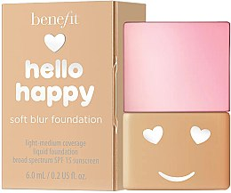 Düfte, Parfümerie und Kosmetik Benefit Hello Happy Soft Blur Foundation - Leichte Foundation (Mini)