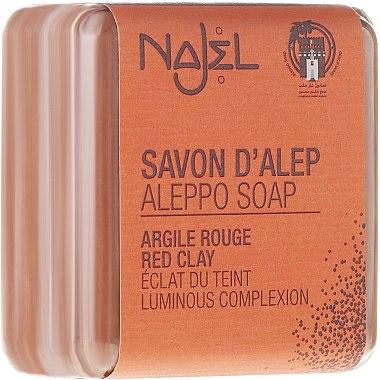 Aleppo-Peelingseife mit roter Tonerde für Gesicht und Hals - Najel Aleppo Soap with Red Clay — Bild N1