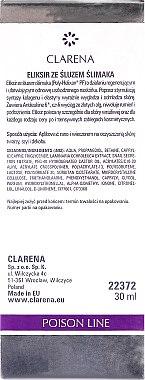 Regenerierendes Gesichtselixier mit Schneckenextrakt - Clarena Poison Line Snail Mucin Elixir — Bild N2