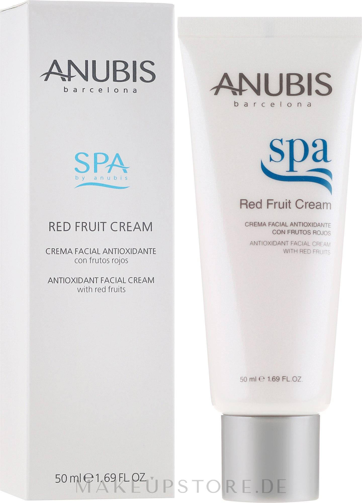 Antioxidative Gesichtscreme mit Extrakten aus roten Früchten - Anubis Spa Red Fruit Cream — Bild 50 ml