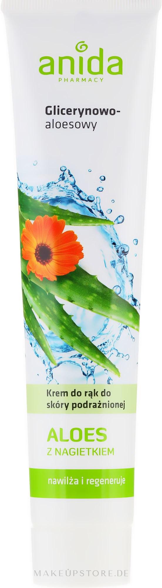 Handcreme mit Aloe - Anida Pharmacy Aloe Hand Cream — Bild 125 ml