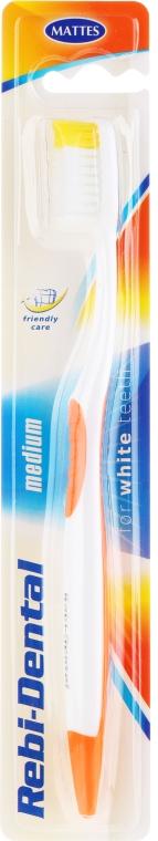 Zahnbürste mittel Rebi-Dental M46 weiß-orange - Mattes — Bild N1