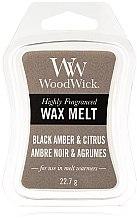 Düfte, Parfümerie und Kosmetik Tart-Duftwachs Black Amber & Citrus - WoodWick Mini Wax Melt Black Amber & Citrus Smart Wax System