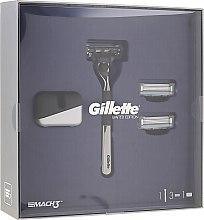Düfte, Parfümerie und Kosmetik Set - Gillette Mach3 (Rasierer/1St. + Ersatzklingen/2St. + Ständer)
