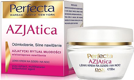Tag und Nacht-Gesichtscreme - Dax Cosmetics Perfecta Azjatica White Light Day And Night Cream — Bild N1