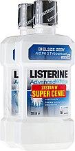 Düfte, Parfümerie und Kosmetik Set - Listerine Advanced White (rinser/2x500ml)