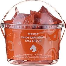 Düfte, Parfümerie und Kosmetik Aufhellende und nährende Anti-Falten Gesichtscreme mit Pferdeöl für mehr Hautelastizität - Ayoume Enjoy Mini Mayu Face Cream