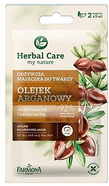 Pflegende Gesichtsmaske für trockene und sehr trockene Haut mit Arganöl - Farmona Herbal Care — Bild N1