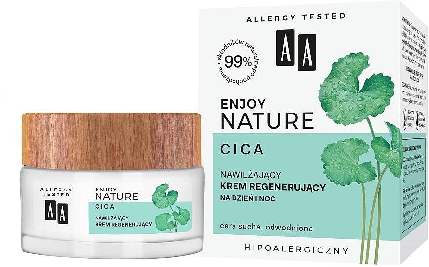 Feuchtigkeitsspendende und regenerierende Tages- und Nachtcreme mit Centella Asiatica - AA Enjoy Nature Cica Moisturising Regenerating Cream