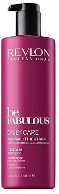 Stärkendes Shampoo für normales und dickes Haar - Revlon Professional Be Fabulous Daily Care Shampoo — Bild N2