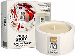 Düfte, Parfümerie und Kosmetik Soja-Duftkerze Miracle You Are! - House of Glam Raw White Collection Miracle You Are Candle