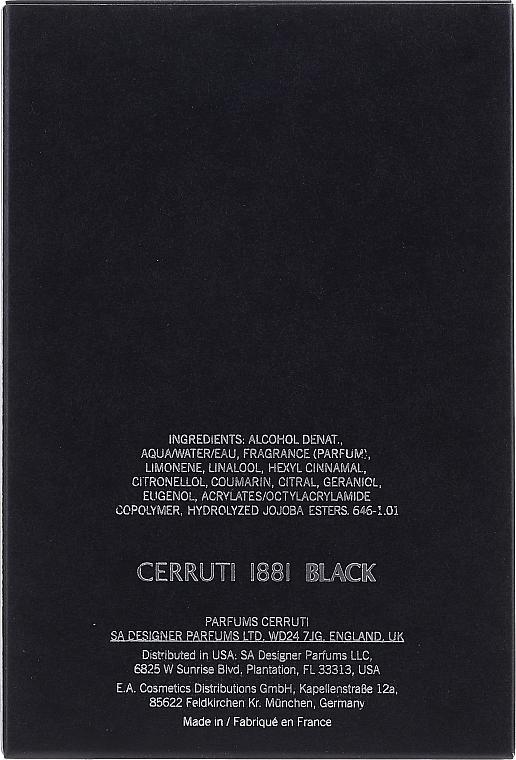 Cerruti 1881 Black - Eau de Toilette — Bild N2