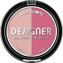 Düfte, Parfümerie und Kosmetik Duo Konturpuder und Highlighter - Miss Sporty Draping Designer Duo Sculpting Blush