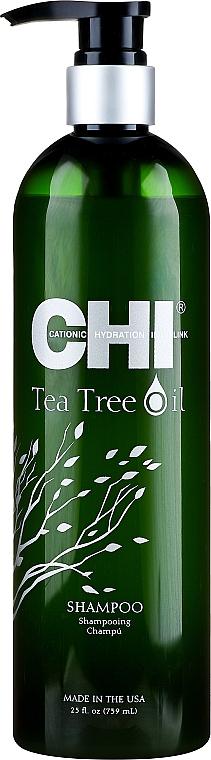 Reinigendes und beruhigendes Shampoo mit Teebaumöl - CHI Tea Tree Oil Shampoo — Bild N1